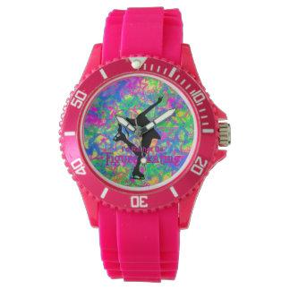 """Reloj deportivo patinaje artístico del rosa """"sea"""