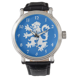 Reloj desenfrenado del emblema del león de Escocia