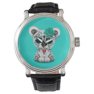 Reloj Día azul del oso polar del bebé muerto