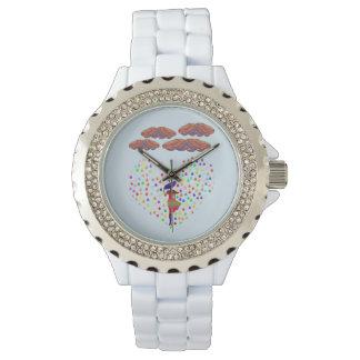 reloj diamante de imitación colorido de la mujer