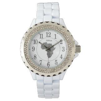 Reloj diamante de imitación de las mujeres