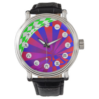 Reloj Dimensiones dobladas (cara japonesa) por Kenneth