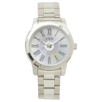 Reloj Disco gris elegante de la OBRA CLÁSICA el | de los