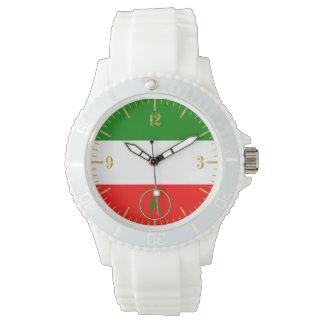 Reloj Diseño italiano de la bandera de Italia con sus