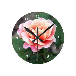 Reloj distante color de rosa de los tambores
