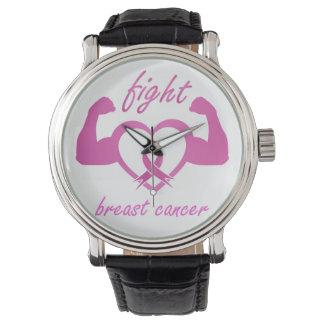 Reloj Doblar los brazos para luchar el cáncer de pecho