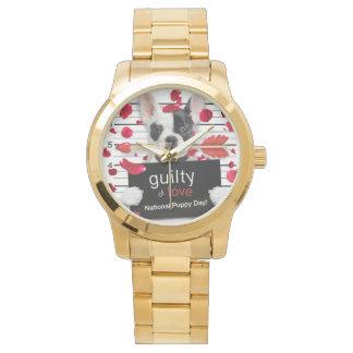 Reloj Dogo francés del el día de San Valentín