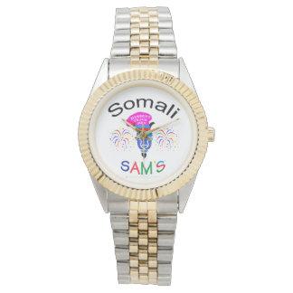 Reloj Dos-Entonado personalizado somalí de Sam's