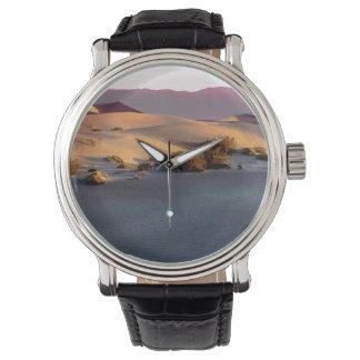 Reloj Dunas de arena planas del Mesquite Death Valley