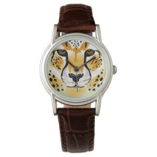 Reloj ejemplo principal del primer del guepardo