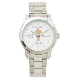 Reloj El jubileo de plata 25to del sacerdote personalizó