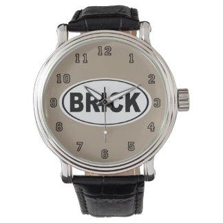 Reloj El municipio New Jersey del ladrillo