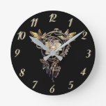 Reloj elegante Art Nouveau de flor dorada joyas re