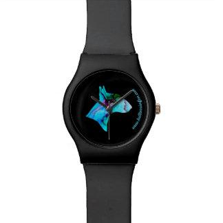 Reloj elegante de la silueta de la acuarela de