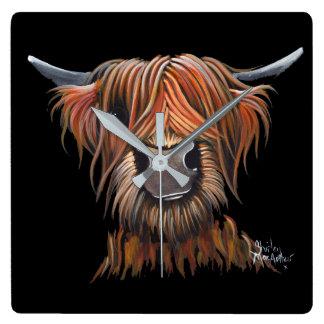 """Reloj escocés de """"BRUCE"""" de la vaca de la montaña"""