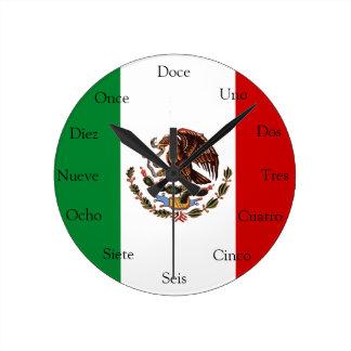 Reloj español con la bandera mexicana