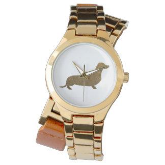Reloj Falso icono del amante del perro del brillo el |