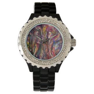 Reloj Fantasía púrpura rosada de VIVIEN Y de MERLIN