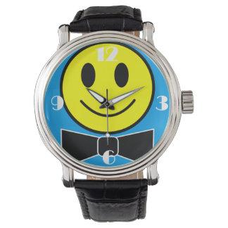 Reloj feliz de la pajarita de la cara