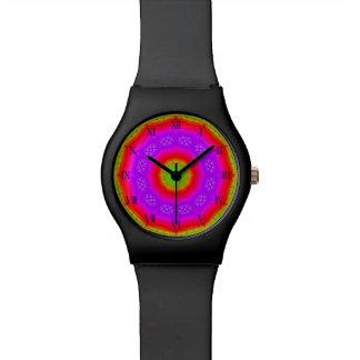 Reloj feliz de los colores