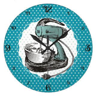 Reloj femenino de la cocina del color del