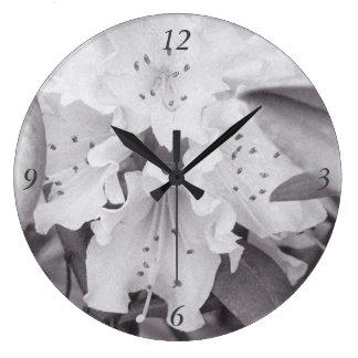 Reloj Redondo Grande Reloj floral gris del círculo