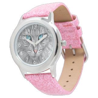 Reloj Foto de encargo del mascota del perro del gatito
