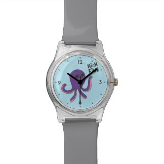 Reloj fresco del pulpo