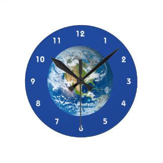 Reloj futuro de la tierra del planeta del respecto