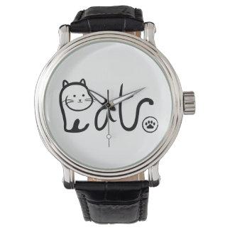 Reloj Gato abstracto