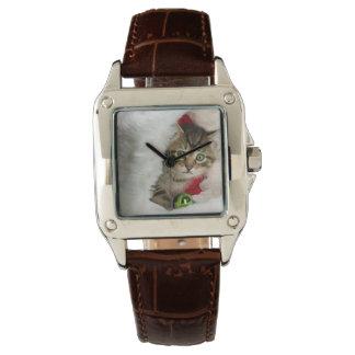 Reloj Gato del navidad - gato del gatito - gatos lindos