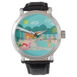 Relojes de pulsera flamenco for Follando en la piscina gay