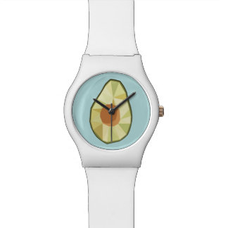 Reloj geométrico del aguacate