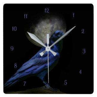 Reloj gótico mágico del cuervo