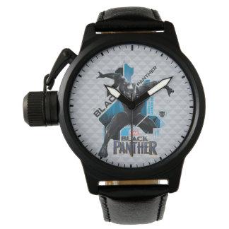 Reloj Gráfico de alta tecnología negro del carácter de