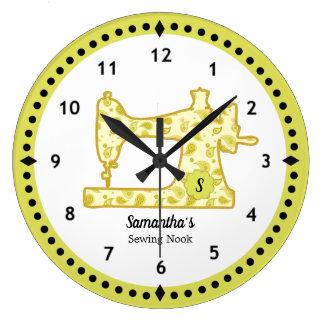 Reloj grande chartreuse de la máquina de coser de