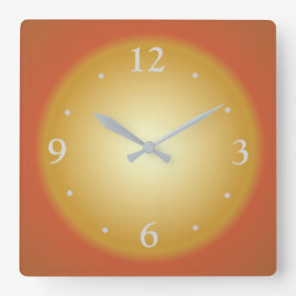 Reloj Cuadrado Reloj grande colorido llano de Face>Kitchen