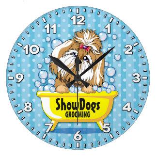 Reloj Groomer-Personalizado Salón-Mascota de la
