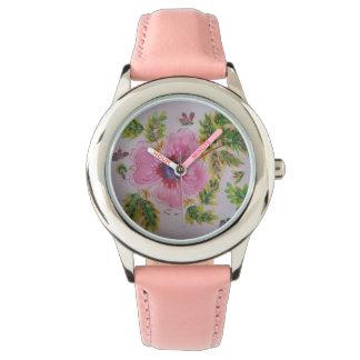 Reloj Hibisco en colores pastel