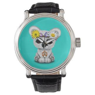 Reloj Hippie lindo de Cub del oso polar del bebé