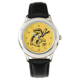 Reloj Icono del tejón de Harry Potter el   Hufflepuff