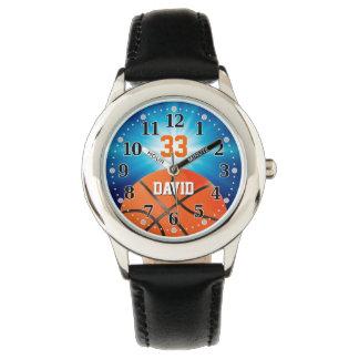 Reloj Jugador de básquet número el | Personalizable