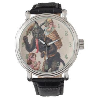 Reloj Krampus que asusta navidad del día de fiesta del