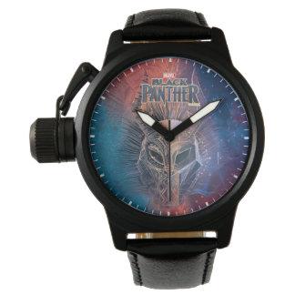 Reloj La máscara tribal negra de la pantera el |