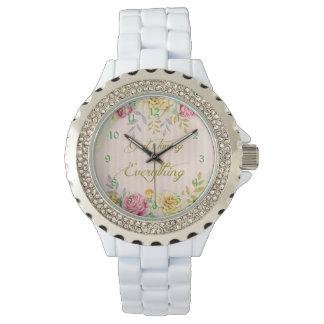 Reloj La sincronización de dios floral del vintage es