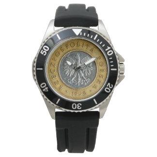 Reloj Lado trasero de la moneda del zlotych del polaco 2