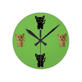 Reloj lindo del amante del gato