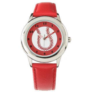 Reloj lindo del béisbol de los niños
