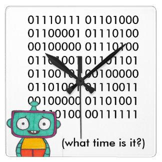 Reloj lindo del robot - binario