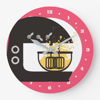 Reloj líquido de la cocina del mezclador del